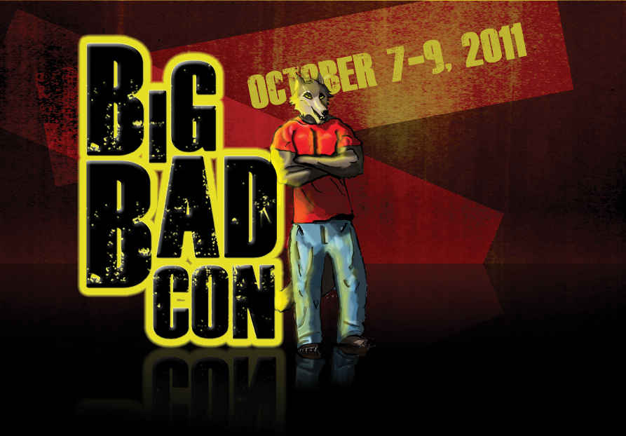 The first Big Bad Con mascot (2011): the Big Bad Wolf!