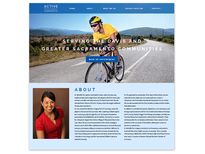 Active Family and Sports Chiropractic homepage